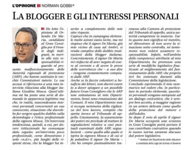 Replica del Ministro Gobbi alla lettera apparsa sul Corriere del Ticino del 5 marzo 2015