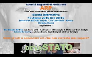 10 aprile 2015 - ore 20,15 - Ristorante La Bricola - Rivera